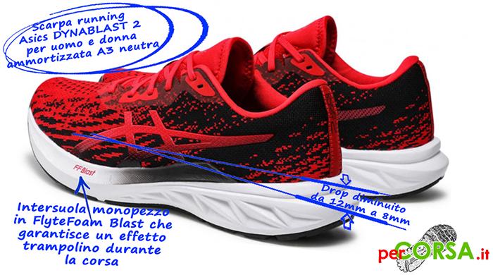 scarpa running dynablast 2 caratteristiche