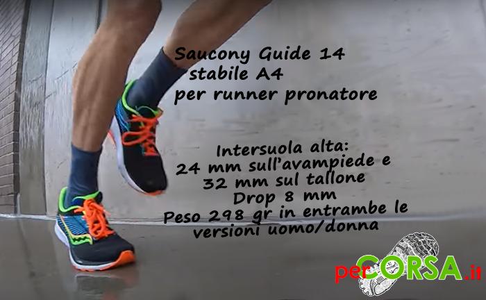 Scheda tecnica calzature Saucony guide 14